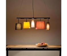 KARE Design Parecchi Colore Pendelleuchte 5-flammig B: 100 H: 178 T: 30 cm, multicolor 35777, EEK: A++. Diese Leuchte ist geeignet für Leuchtmittel der Energieklassen: A++, A+, A, B, C, D, E.