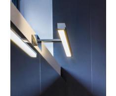Illumina/Astro Kashima LED Spiegel-/Bilderleuchte B: 35 H: 4,5 T: 19 cm, chrom/opalweiß 7348, EEK: A+. Diese Leuchte enthält eingebaute LED-Lampen. A++ (LED), A+ (LED), A (LED). Die Lampen können in der Leuchte nicht ausgetauscht werden.