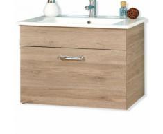 ROLLER Waschtischunterschrank, Badschrank Offenbach - Sanremo Eiche Terra - inklusive Waschtisch