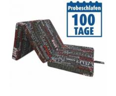ROLLER Faltmatratze, Klappmatratze Materac - mit Schriftmotiv - 190x63 cm - H1