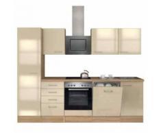 ROLLER Küchenblock, Küchenzeile Nepal - Kaschmir Glanz-Sonoma Eiche - mit E-Geräten - 270 cm, A