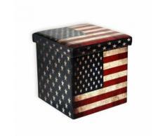 ROLLER Sitzhocker, Sitzwürfel Flagge America - faltbar - 38 cm