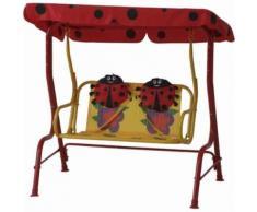 ROLLER Kinder-Hollywoodschaukel, Gartenschaukel Marie - rot-gelb - 115x118 cm