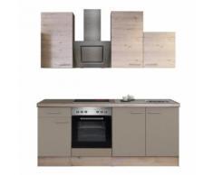 ROLLER Küchenblock, Küchenzeile Riva - Quarz-Cubanit-San Remo - mit E-Geräten - 210 cm, A