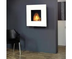 muenkel design square fire 75 [quadratischer Bioethanol Wandkamin]: Weiß