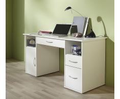 VCM Schreibtisch mit PC-Fach weiss / Computertisch