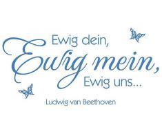 Wandtattoo, Home affaire, »Ewig dein, Ewig mein … + 3D Deko Schmetterlinge«, 100/49 cm