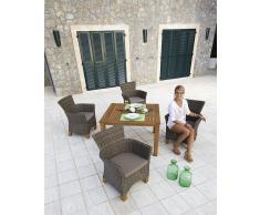 9-tlg. Gartenmöbel-Diningset »Toskana«