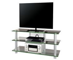 VCM TV-Möbel Zumbo / LCD Rack, LED Tisch Alu Glas
