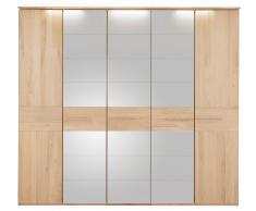 THIELEMEYER® Drehtürenschrank mit Spiegeltüren »Bari«, Esche, in 3 Breiten