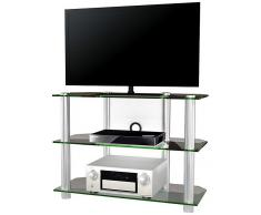 VCM TV-Möbel Olopa XXL / LCD Rack, LED Tisch Alu Glas