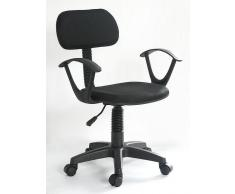VCM Bürostuhl Junok / Drehstuhl Schreibtischstuhl schwarz