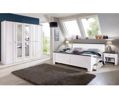 Schlafzimmer-Sparset mit Drehtürenschrank (5-tlg.)
