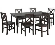 Home affaire Essgruppe »Marta« (7-tlg.), mit großem Tisch