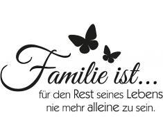 Wandtattoo, Home affaire, »Familie ist«, in 2 Größen