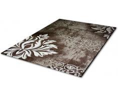 Teppich, Merinos, »DORDOGNE«, handgearbeiteter Konturenschnitt, gewebt