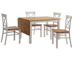 Essgruppe, Home affaire, 5-teilig, mit ausklappbarem Esstisch
