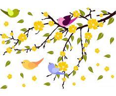 Wandtattoo, Home affaire, »Blätterregen mit Vögeln«, in 3 Größen
