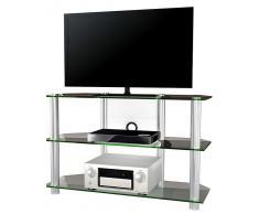VCM TV-Möbel Onata XXL / LCD Rack, LED Tisch Alu Glas