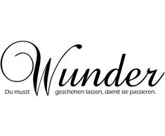 Wandtattoo, Home affaire, »Du musst Wunder...«, Maße (B/H): ca. 60/20 cm