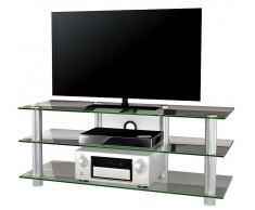 VCM TV-Möbel Posio Big XXL / LCD Rack, LED Tisch Alu Glas
