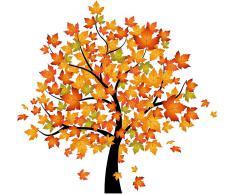 Wandtattoo, Home affaire, »Baum im Herbst«, 120/116 cm