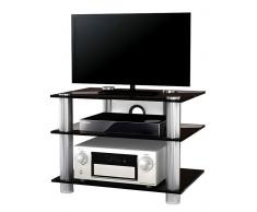 VCM TV-Möbel Sindas / LCD Rack, LED Tisch Alu Glas