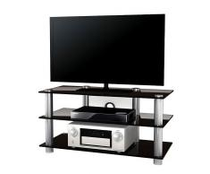 VCM TV-Möbel Netasa / LCD Rack, LED Tisch Alu Glas