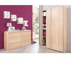 Garderobenschrank »Soft Smart«, Cs Schmalmöbel, 120 cm breit in 2 Tiefen und 6 Einlegeböden