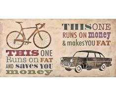 Home Affaire Deco Panel, »Skip Teller / Bikes vs. Car«, 100/50/2 cm