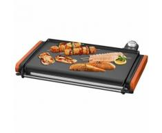 dynamic24 Maybaum Luxus XXL elektrischer Tischgrill 43cm Grill Grillplatte Plancha 2000W