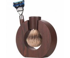 Mondial Exclusive Sphaera Shaving Set Fusion Rasierer + Fine Badger Rasierpinsel