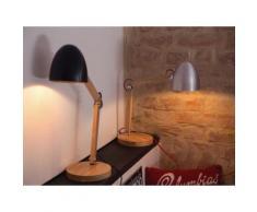 Tischlampe Silber - Tischleuchte - Nachttischlampe - Leselampe - Beleuchtung - ELIAS