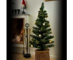 LED Fiberoptik Weihnachtsbaum, 16 warmweiße Dioden