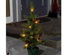 LED Weihnachtsbaum mit Tannenzapfen, 10 warmweiße Dioden