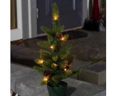 LED Weihnachtsbaum mit Tannenzapfen, 20 warmweiße Dioden