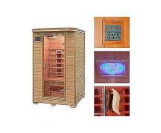 home deluxe infrarotkabine »redsun m«, 120/105/190 cm, 40 mm, für bis zu 2 personen