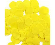 Wrapables 2,5 cm rund Gewebe Konfetti Party Dekorationen für Hochzeiten, Geburtstagsfeiern, und Duschen gelb
