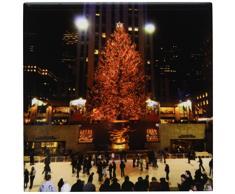 3dRose ct_45489_1 Weihnachtsbeleuchtung im Rockefeller Center in New York-Keramikfliesen, 10,2 cm
