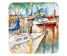 Caroline s Treasures jmk1239fc Pavillon und Segelboote Schaumstoff Untersetzer (Set von 4), 8,9 cm H x 8,9 cm W, multicolor