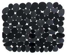 WENKO Spülbeckeneinlage Stone Schwarz, schützt das Spülbecken, zuschneidbar, Kunststoff, 31 x 26 cm, schwarz