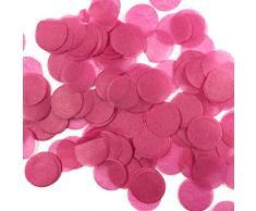 Wrapables 2,5 cm rund Gewebe Konfetti Party Dekorationen für Hochzeiten, Geburtstagsfeiern, und Duschen hot pink