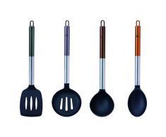 Bergner Q3469 Neon-Kollektion Küchenutensilien, Nylon, 4 Stück