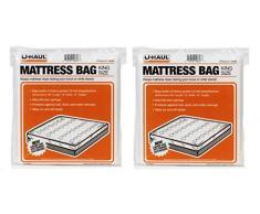 UHaul Matratze Tasche Displayschutzfolie King Größe 96 x 78 x 10 2 Pack beweglichen und Speicherung