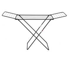 WENKO Wäschetrockner Champion, Flügel-Wäscheständer mit 18 Meter Trockenlänge, Kindersicherung, platzsparend zusammenklappbar, 170 x 98 x 55 cm, Stahl pulverbeschichtet in Schwarz matt