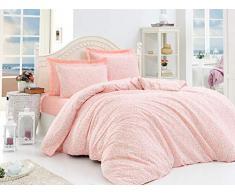 EnLora Home Bettdecke, Einzelbett, Lachs, 160 x 220 cm, 3 Einheiten