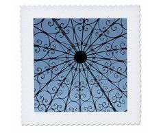 3dRose QS 37219 _ 2 Ringling Pavillon offen Pavillon mit Blue Sky Quilt Platz, 6 von 15,2 cm