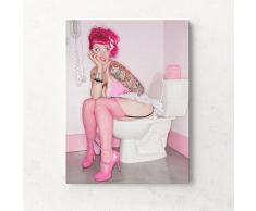 HACASO Sexy Beauty Ölgemälde auf Leinwand, für Badezimmer, Bar, Wand, WC Dekoration ohne Rahmen, Canvas, 2, 11.8 x 15.7 Inch