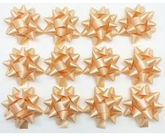 PepperLonely Marke 12 Abziehen & Aufkleben Weihnachten Konfetti Geschenk Star Schleifen, 3–3/10,2 cm 11#. Gold