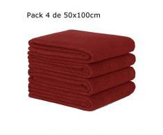 ForenTex LISO(2839) Multifunktionaler Badezimmerschrank, Handwaschbecken, Frisiertisch, 100% Baumwolle, Bordo Pack Handtücher 50 x 100 cm 4